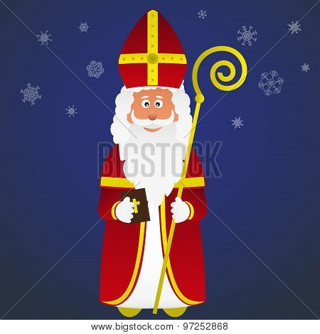 Colorful Vector Saint Nicolas Character Holiday Eps10
