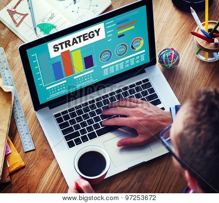 Strategy Plan Marketing Data Ideas Innovation Concept