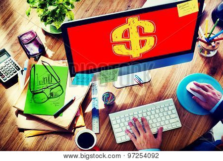 Dollar Sign Exchange Economy Business Trading Financial Concept
