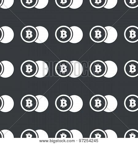Straight black bitcoin coin pattern