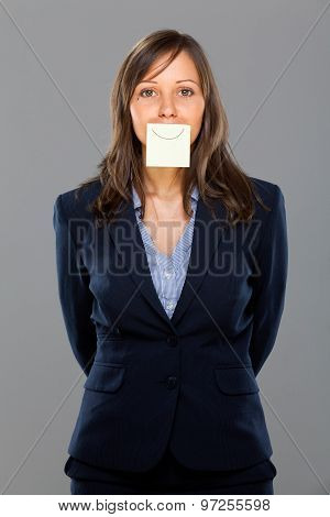 Businesswoman With Sticky Note