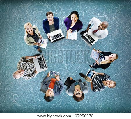 Global Communications Technology Laptop Digital Devices Concept