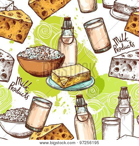 Milk Seamless Pattern