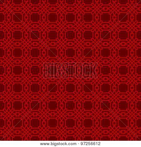 Seamless Chinese window tracery lattice polygon round pattern background.