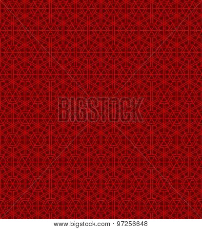 Seamless Chinese style window tracery polygon geometry pattern background.