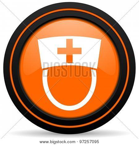 nurse orange icon hospital sign