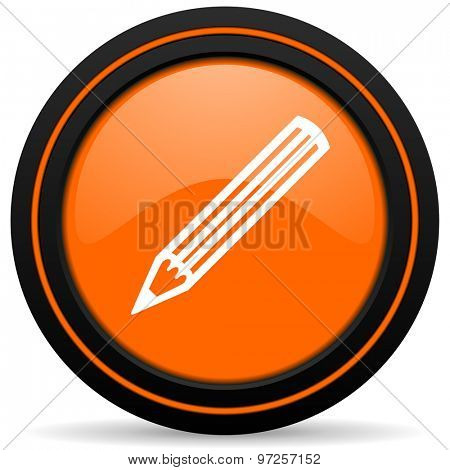 pencil orange icon