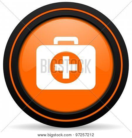 first aid orange icon hospital orange icon