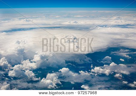 Sky Clouds And Land Background