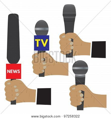 Hand With A Microphone.