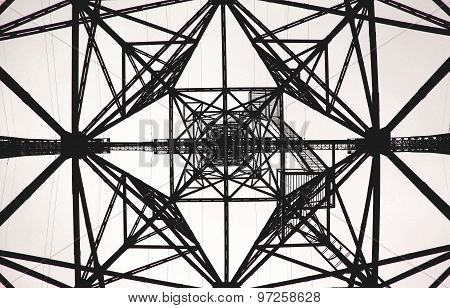 Geometric Pattern Electrical Tower