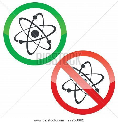 Atom permission signs set