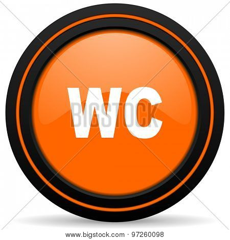 toilet orange icon wc sign