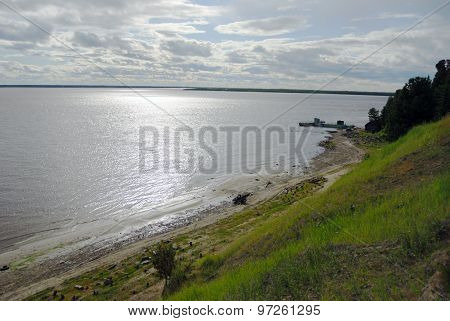 Ob, Major River In Western Siberia, Russia
