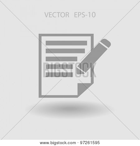 Flat  icon of notes
