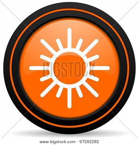 sun orange icon weather forecast sign