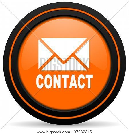 email orange icon contact sign