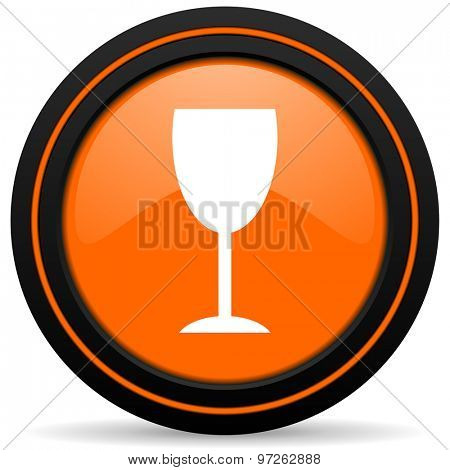 alcohol  orange icon glass sign