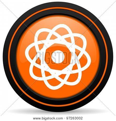 atom orange icon