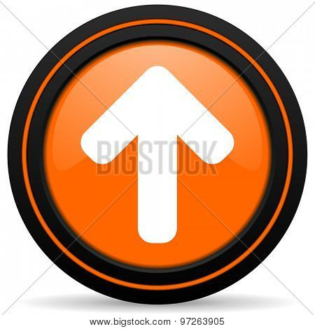 up arrow orange icon arrow sign