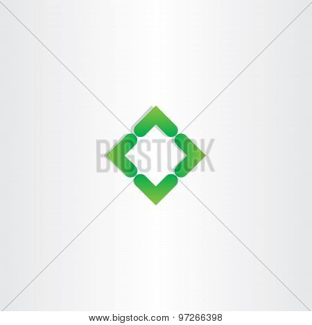 Green Gradient Square Business Logo Vector Design