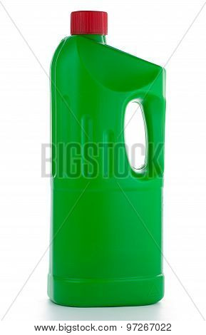 Bootle With Detergent Isolated On White Background