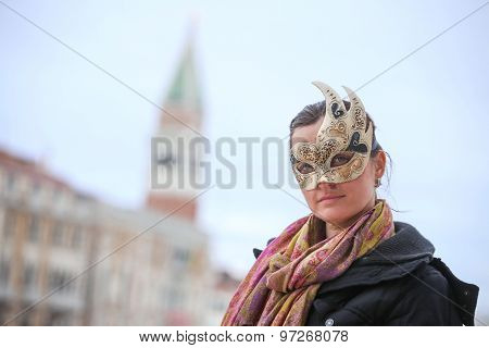 Woman With Carneval Mask