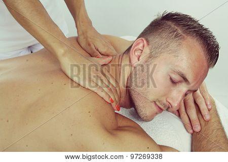 massage of an handsome man