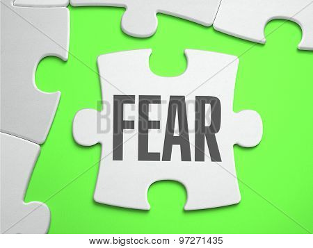 Fear - Jigsaw Puzzle with Missing Pieces.