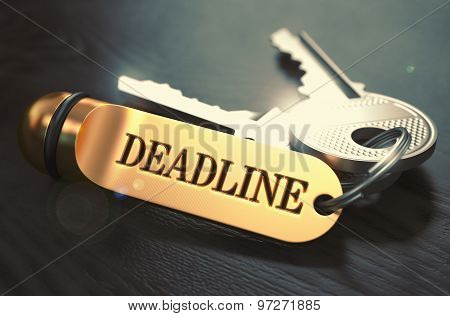 Deadline written on Golden Keyring.