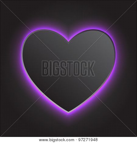 Vector illustration of glowing heart