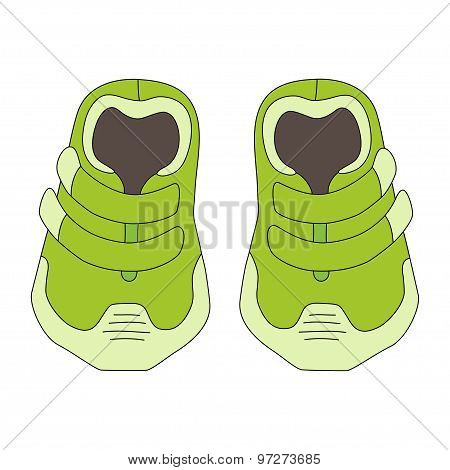 Illustration Of Children's Cute Sneakers Without Shoelace