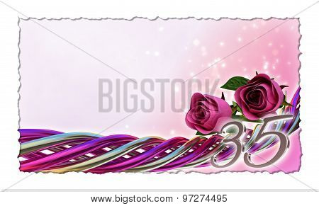 birthday concept with pink roses and sparks