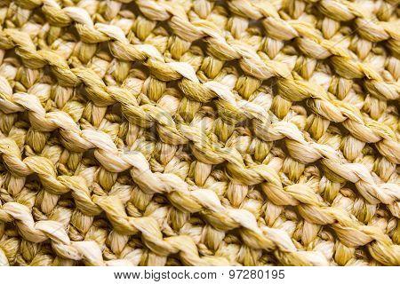 Closeup Of A Woven Pattern