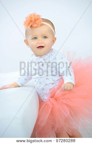 Little girl dressed in a tutu