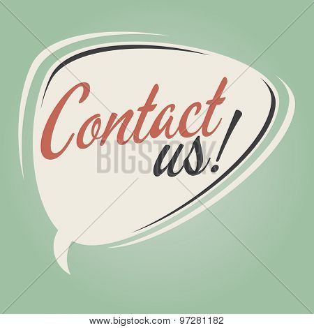 contact us retro speech bubble