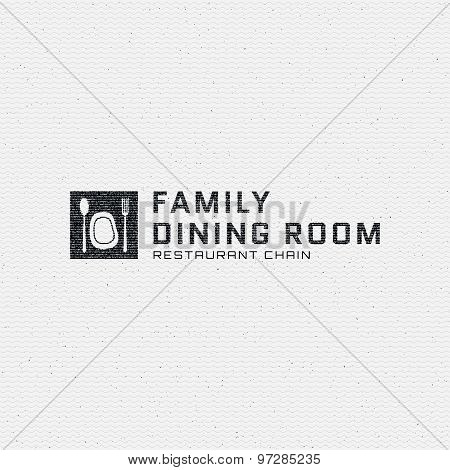 Dining room badges logos and labels for any use