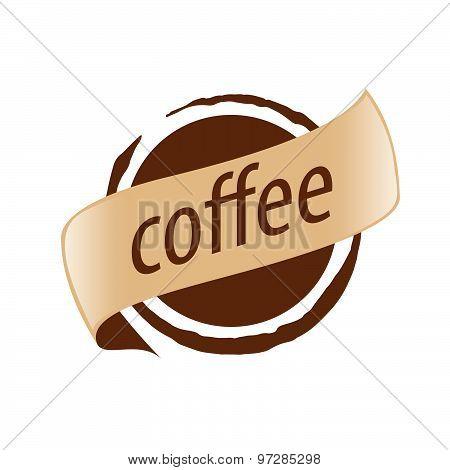 Abstract Vector Logo Imprint Coffee