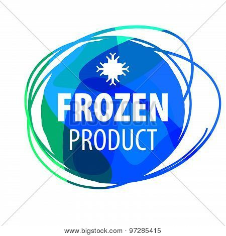 Round Blue Vector Logo For Frozen Products