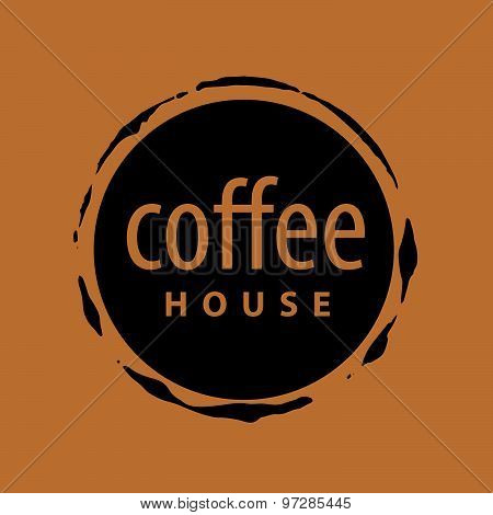Round Vector Logo Imprint Of Coffee