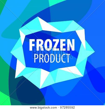 Vector Logo For Frozen Foods In The Form Of Crystals