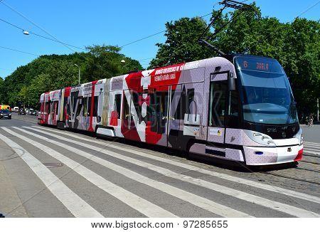 Tram in Riga, Latvia