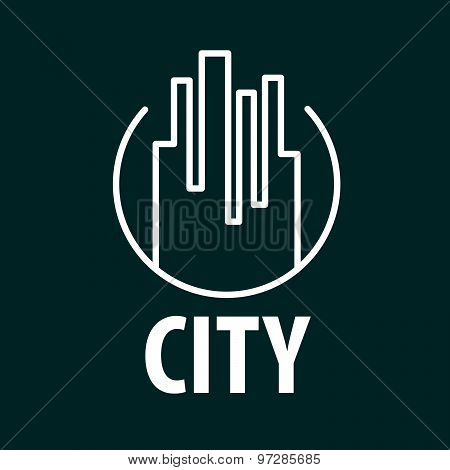 Vector Logo Outline Night City