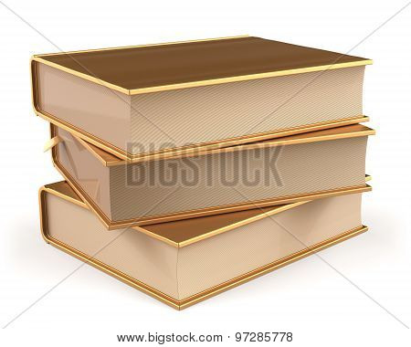 Book Gold Stack Of Books Covers Golden Yellow Textbooks