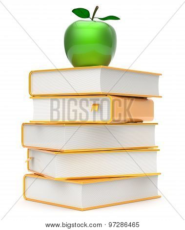 Apple Books Stack Textbooks Green Golden Yellow Gold Icon