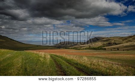 Steppes and mountains of Khakassia.