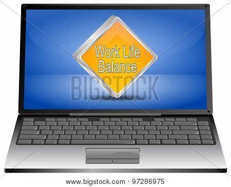 Laptop computer with Work Life Balance button