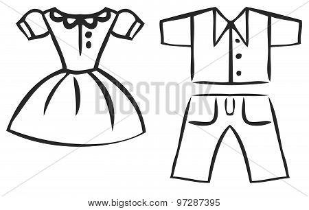 Vector Set Of Cartoon Clothes