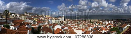 Panorama of Lisbon and Tagus River, Portugal, Europe