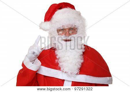 Santa Claus Raising His Hand Christmas Portrait
